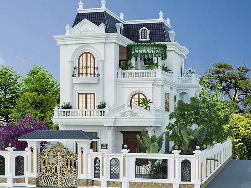 Biệt thự kiểu Pháp tân cổ điển