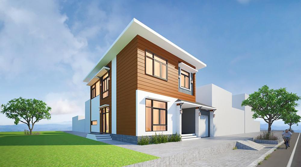 Giới thiệu thiết kế biệt thự phố diện tích 12x20m