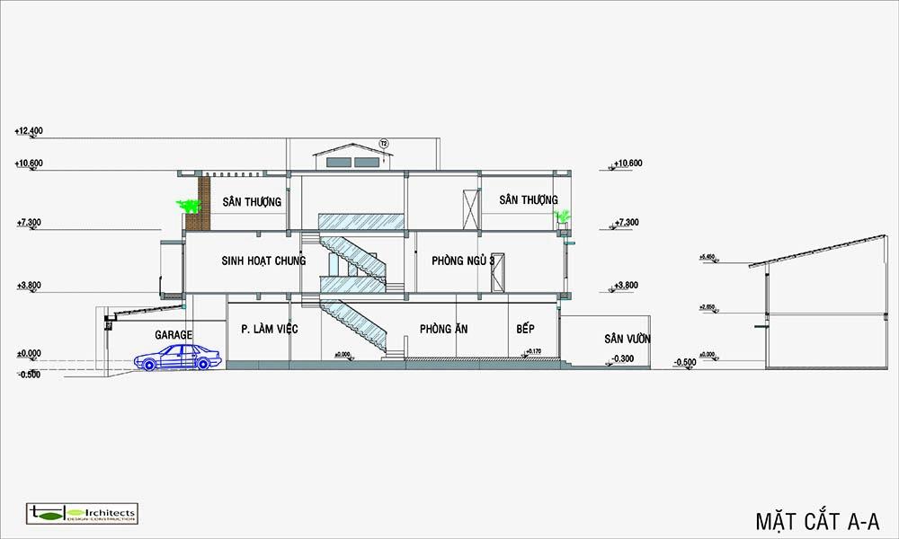 Công năng sử dụng nhà đẹp 3 tầng hiện đại