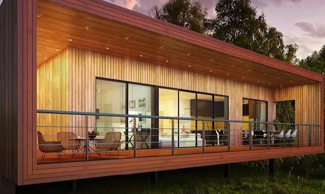 Hiên nhà bằng gỗ
