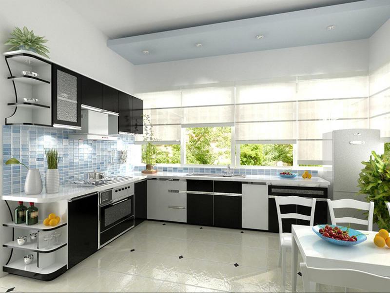 Phòng bếp hiện đại hòa hợp với thiên nhiên