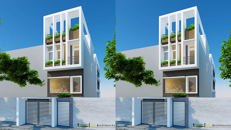 Thiết kế nhà 3 tầng 4 phòng ngủ