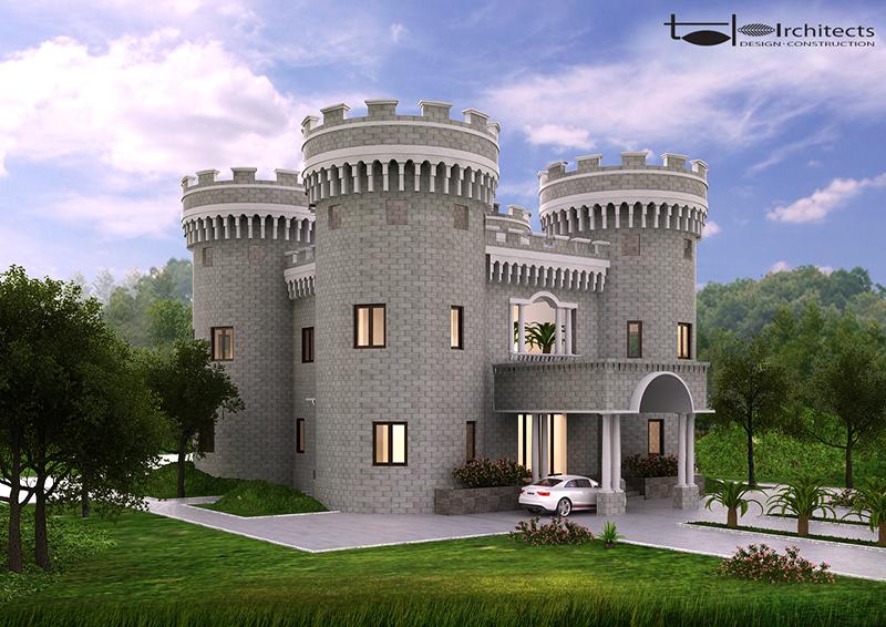 Thiết kế tổng thể biệt thự trung cổ