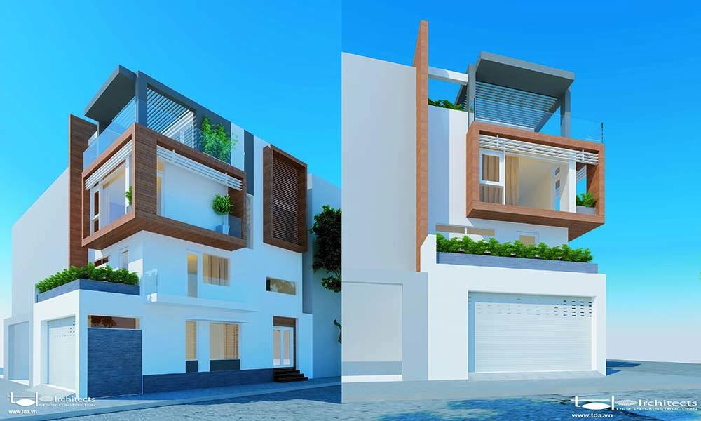 Yêu cầu thiết kế nhà phố 2 mặt tiền 5x10m