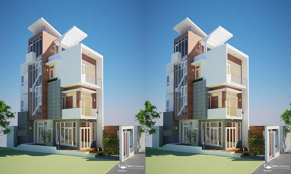Thông tin dự án thiết kế biệt thự hiện đại phá cách 120m2