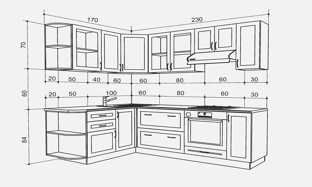 Kích thước tủ bếp dưới tiêu chuẩn