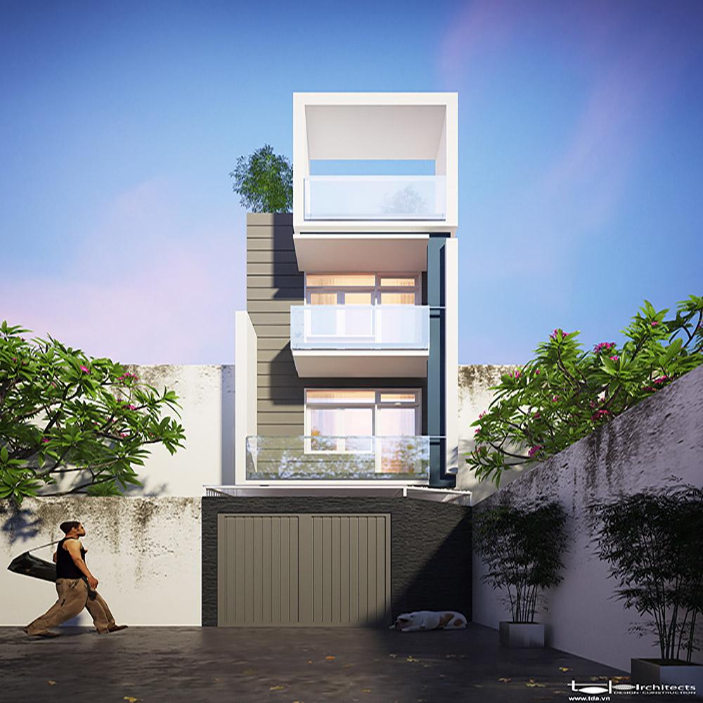 Thiết kế nhà phố hiện đại diện tích 4x15m