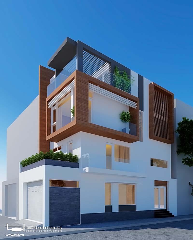 Thiết kế bên ngoài nhà phố 2 mặt tiền 5x10m