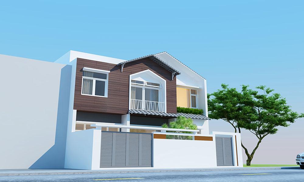 Thiết kế nhà đẹp 2 tầng diện tích 100m2