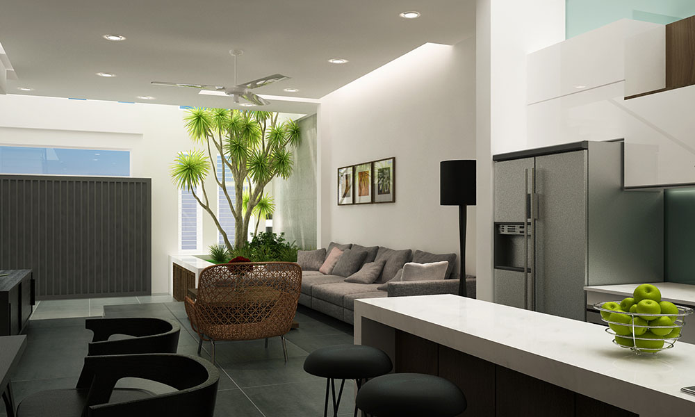 Thiết kế nhà đẹp 3 tầng 6x15m